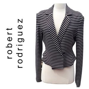 Robert Rodriguez black white striped blazer jacket